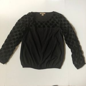 Nine West Vintage America collection black blouse